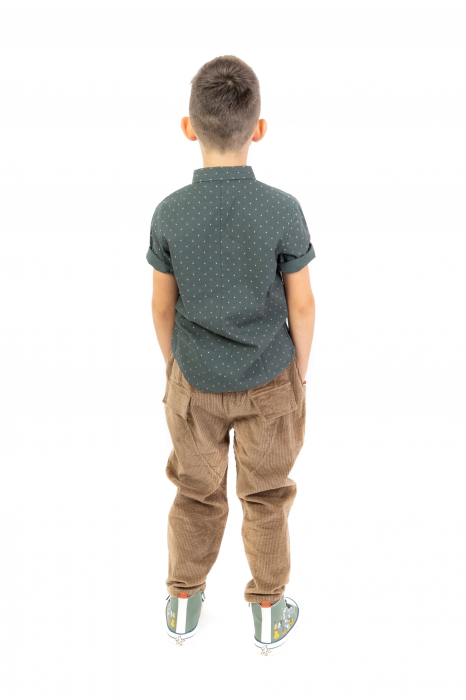 Pantaloni maro din catifea [6]
