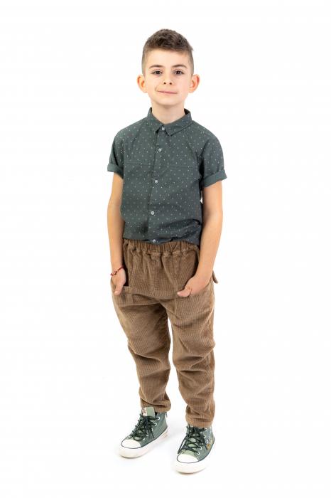 Pantaloni maro din catifea [3]