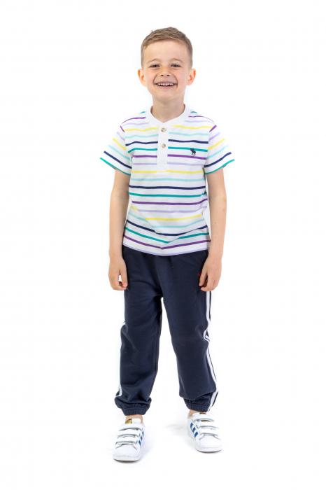 Pantaloni sport cu doua dungi laterale 4