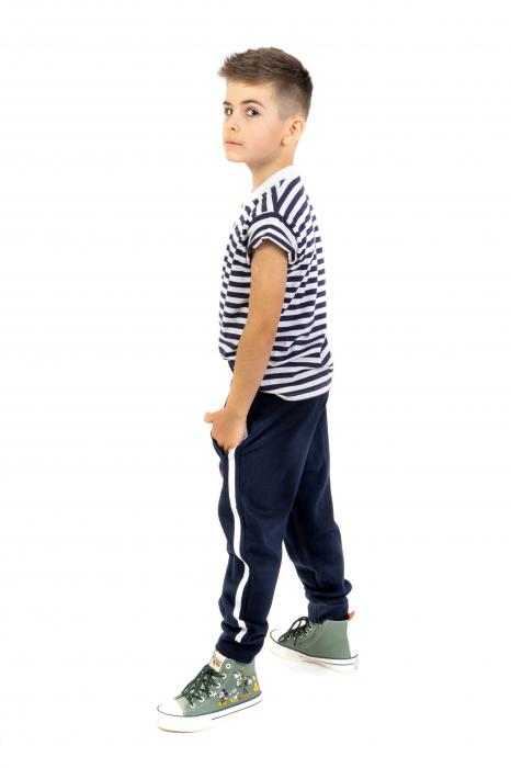 Pantaloni sport cu dunga laterala 1