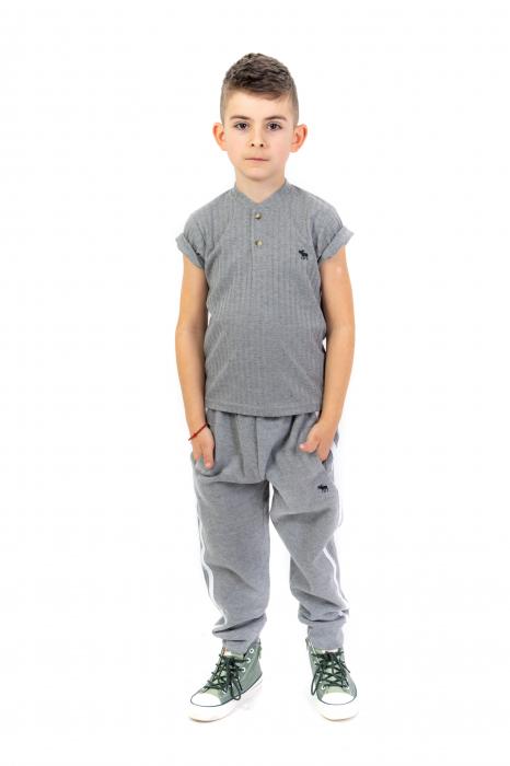Pantaloni sport cu dunga laterala 3