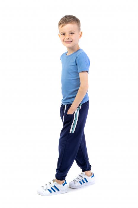 Pantaloni subtiri cu dungi laterale [0]