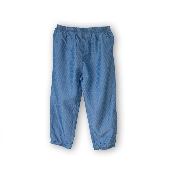 Pantaloni subtiri din denim imprimat [0]
