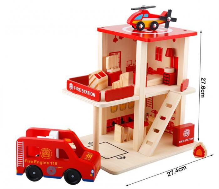 Statie de pompieri cu accesorii - jucarie de rol 1