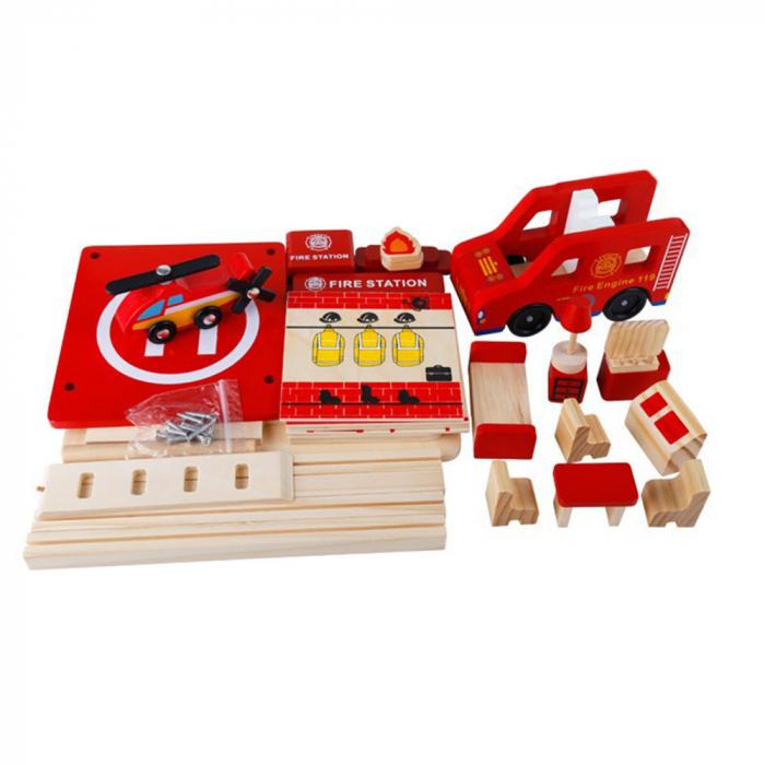 Statie de pompieri cu accesorii - jucarie de rol 2