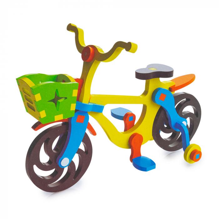 Piese din lemn pentru asamblare - 32 piese - bicicleta 0