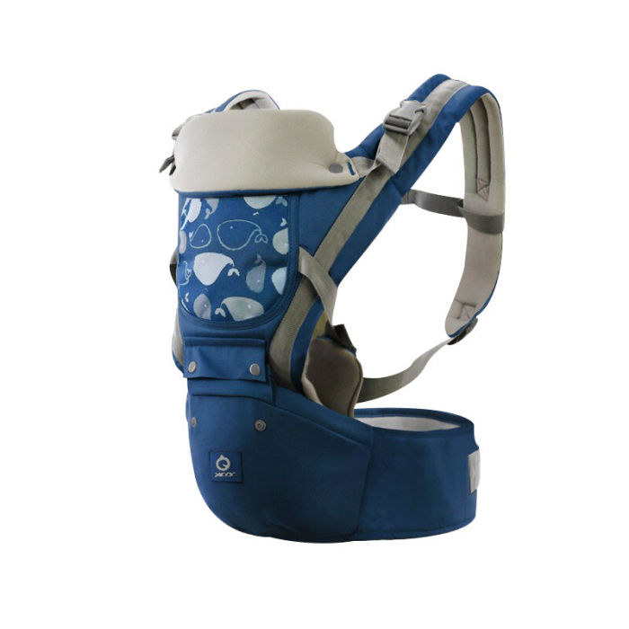 Port bebe ergonomic cu scaunel albastru [0]