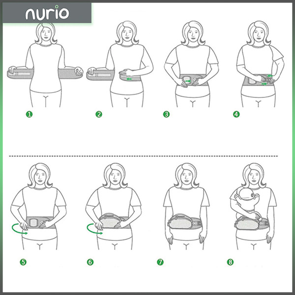 Port bebe ergonomic cu scaunel,albastru [3]