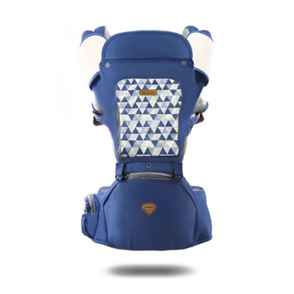 Port bebe ergonomic cu scaunel,albastru [0]