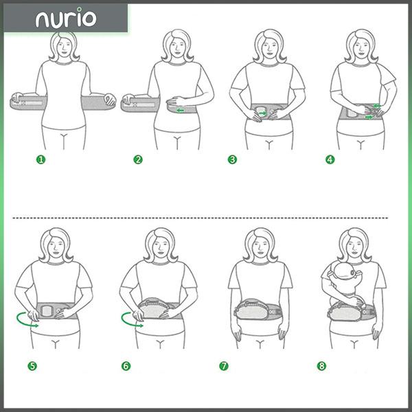 Port bebe ergonomic cu scaunel,gri 3