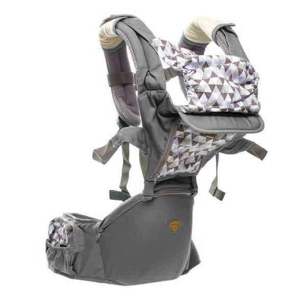 Port bebe ergonomic cu scaunel,gri 1