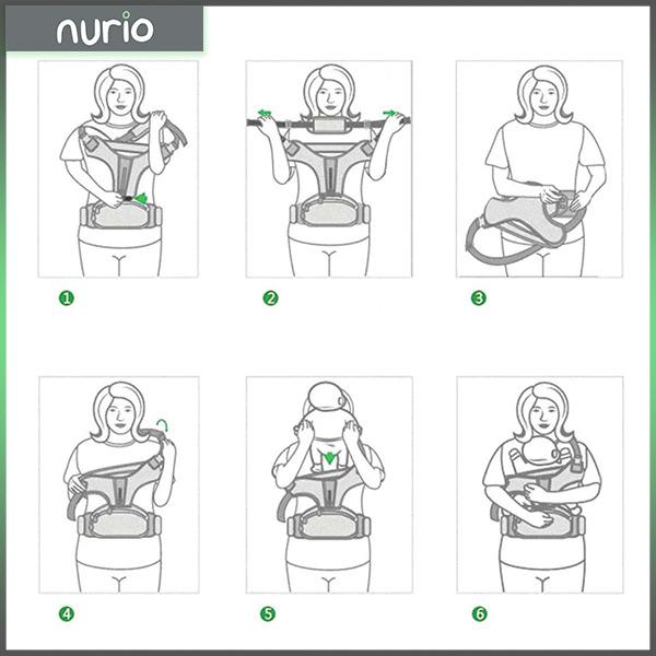 Port bebe ergonomic cu scaunel,gri 2