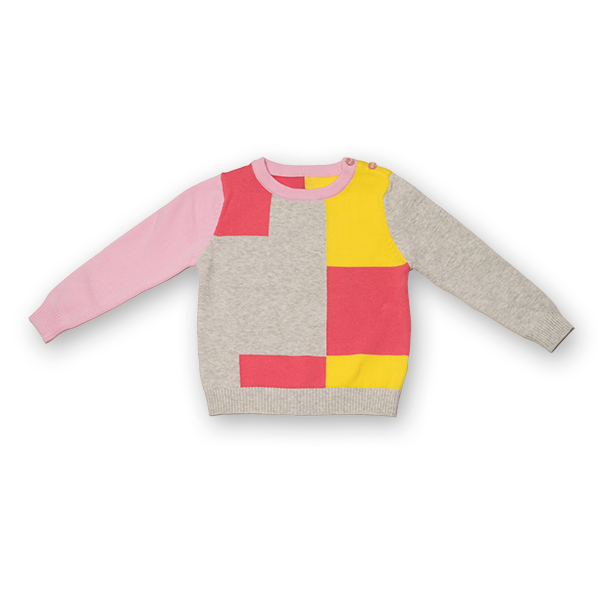 Pulover din Tricot Colorat 0