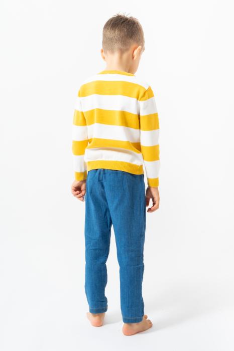 Pulover din Tricot cu Dungi [3]