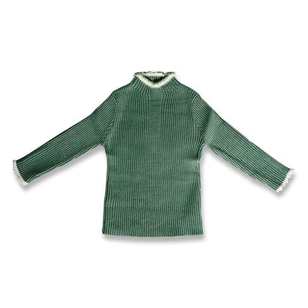 Pulover Simplu din Tricot cu Blăniță [0]