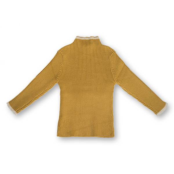 Pulover Simplu din Tricot cu Blăniță 3