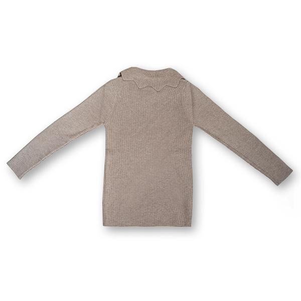 Pulover Simplu din Tricot  cu Volănaș 1