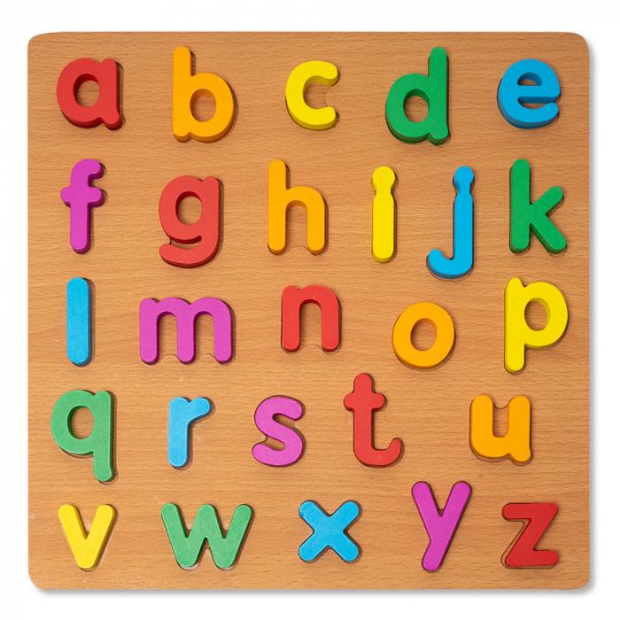 Puzzle 3D din lemn alfabet cu litere mici [0]