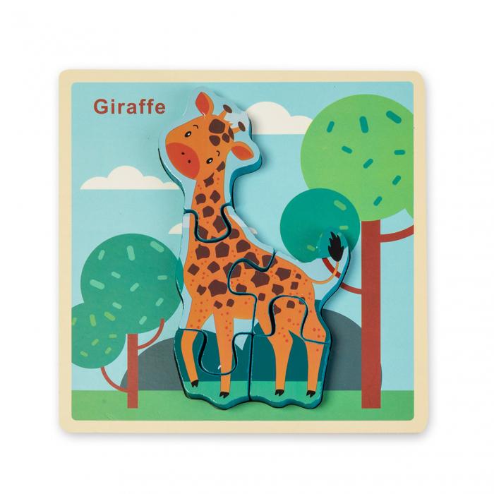 Puzzle 3D din lemn - girafa 0