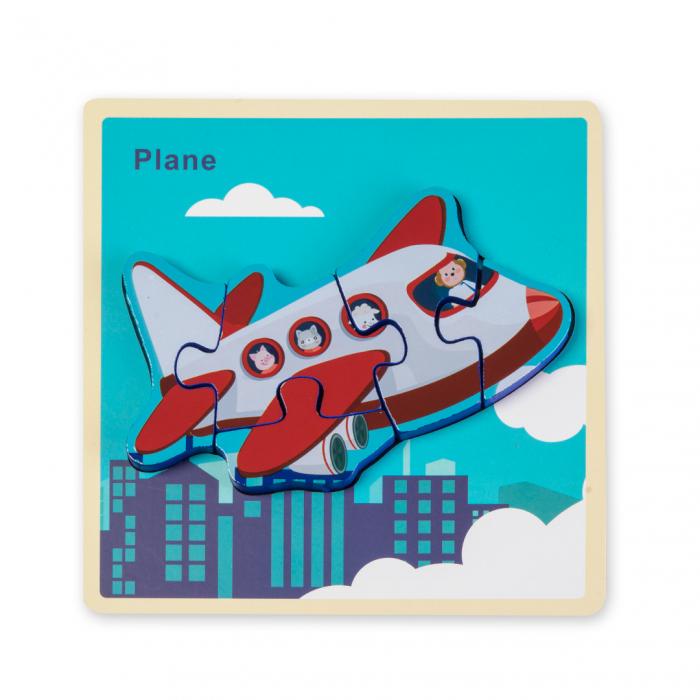 Puzzle 3D din lemn - avion [0]