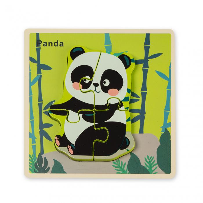 Puzzle 3D din lemn - ursulet panda [0]