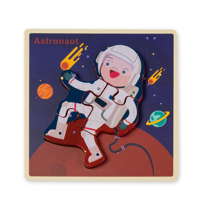 Puzzle 3D din lemn - astronaut 0