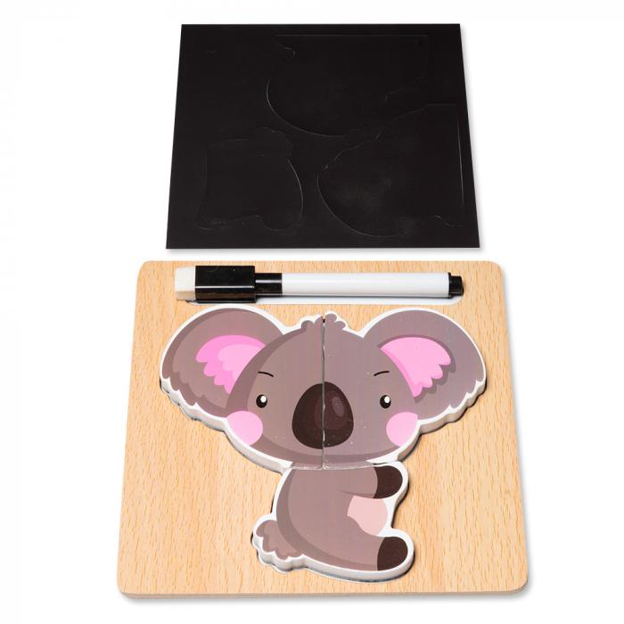 Puzzle 3D din lemn cu stilou - ursulet 0