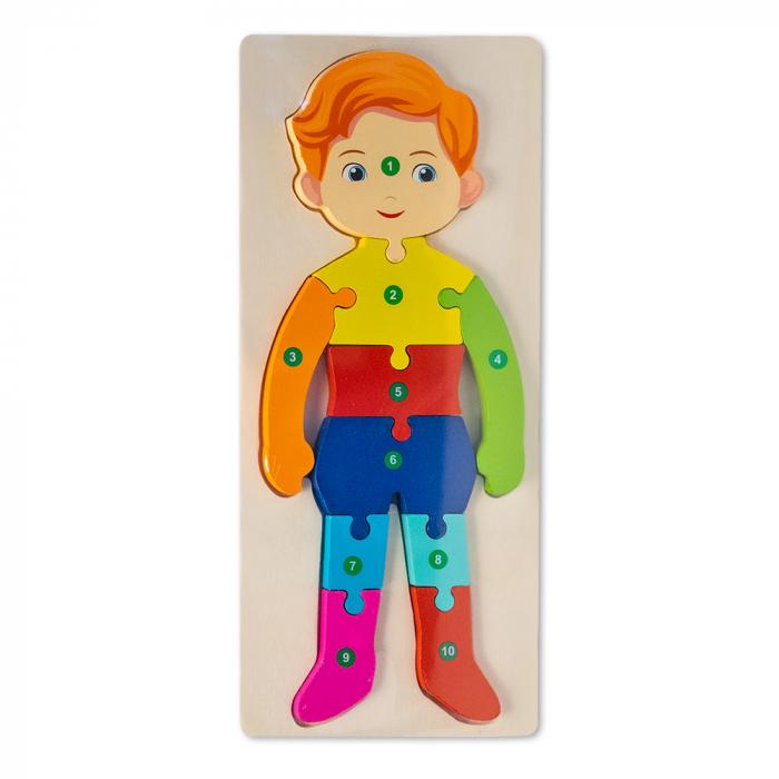 Puzzle 3D din lemn - baietel [0]