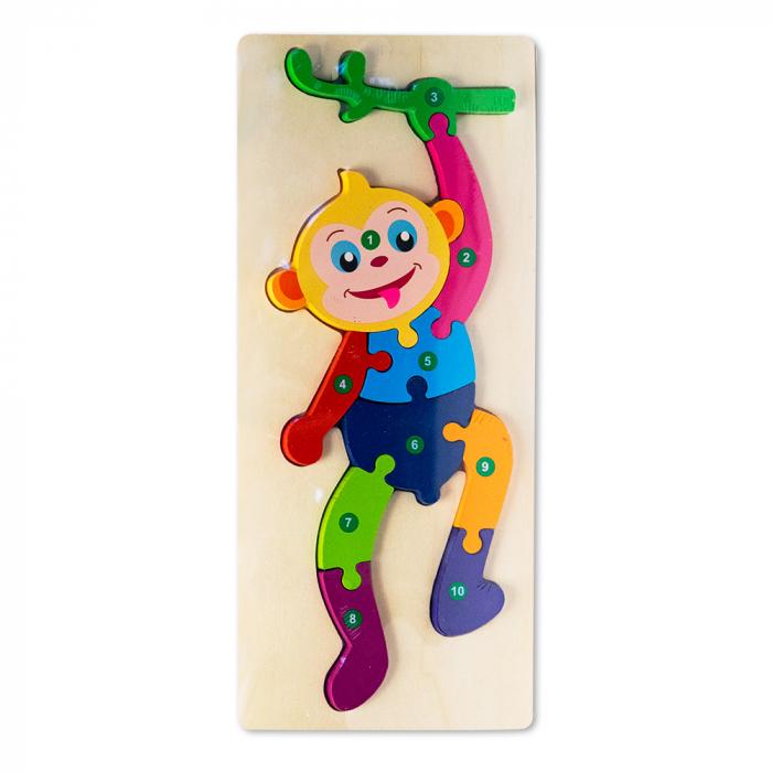 Puzzle 3D din lemn - maimutica 0