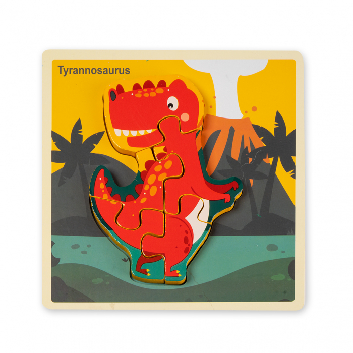 Puzzle 3D din lemn - dinozaur [0]