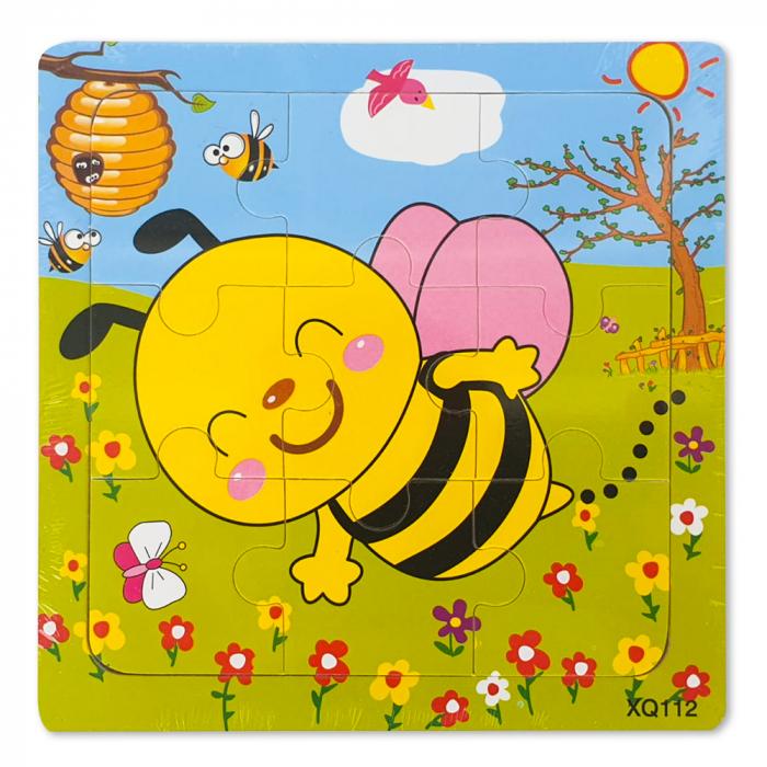 Puzzle din lemn albinuta 0