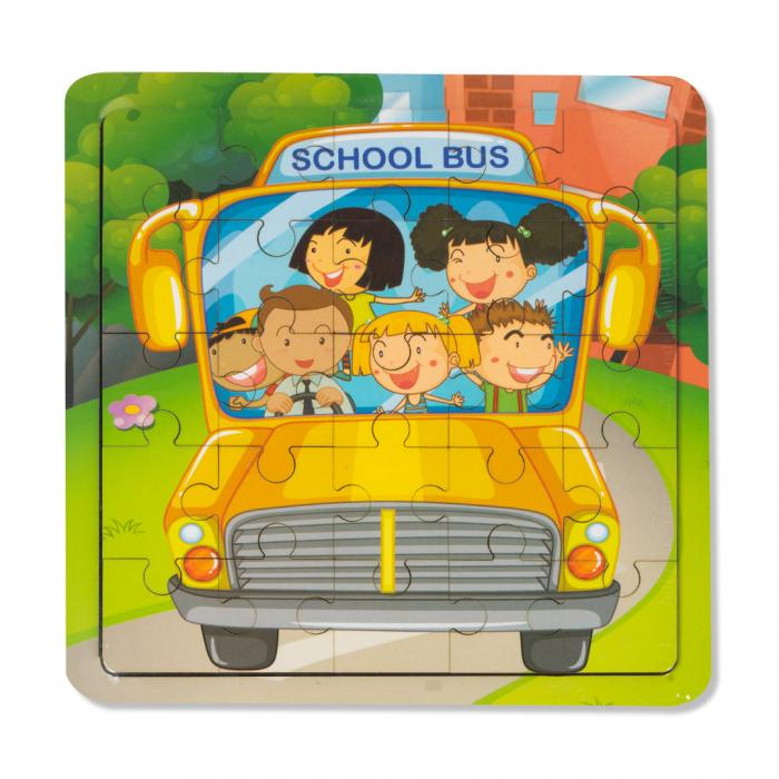 Puzzle din lemn - autobuz scolar [0]