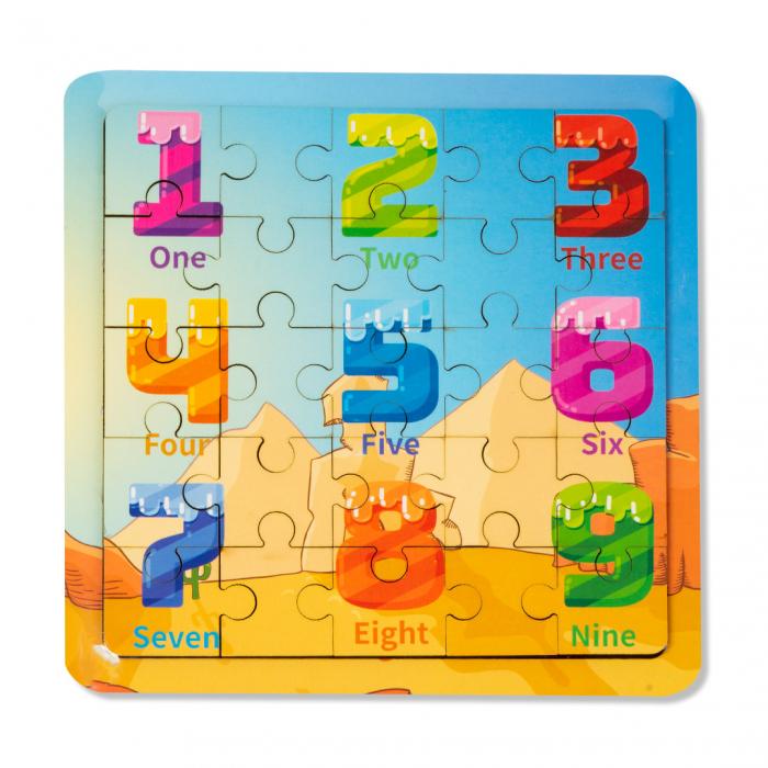 Puzzle din lemn - cifre [0]