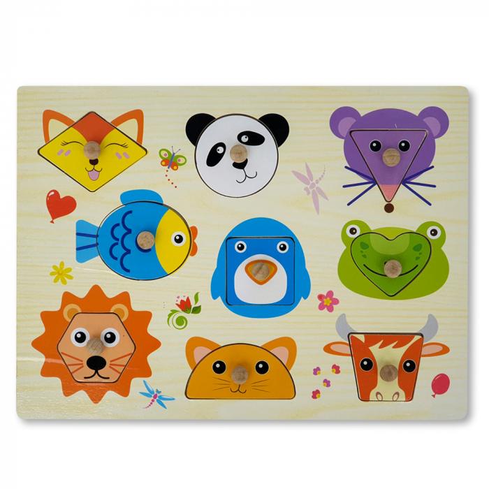 Puzzle din lemn cu animale 1