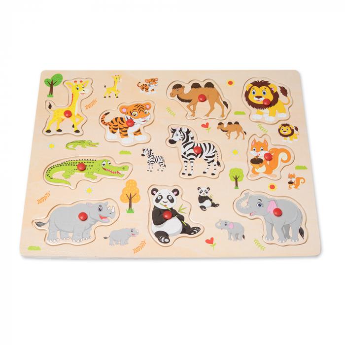 Puzzle din lemn cu animale 2