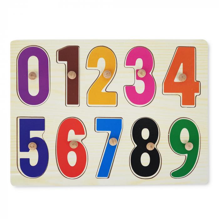 Puzzle din lemn cu cifre-10 piese [1]