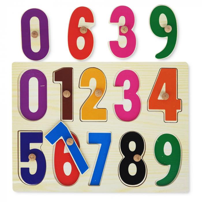 Puzzle din lemn cu cifre-10 piese [0]
