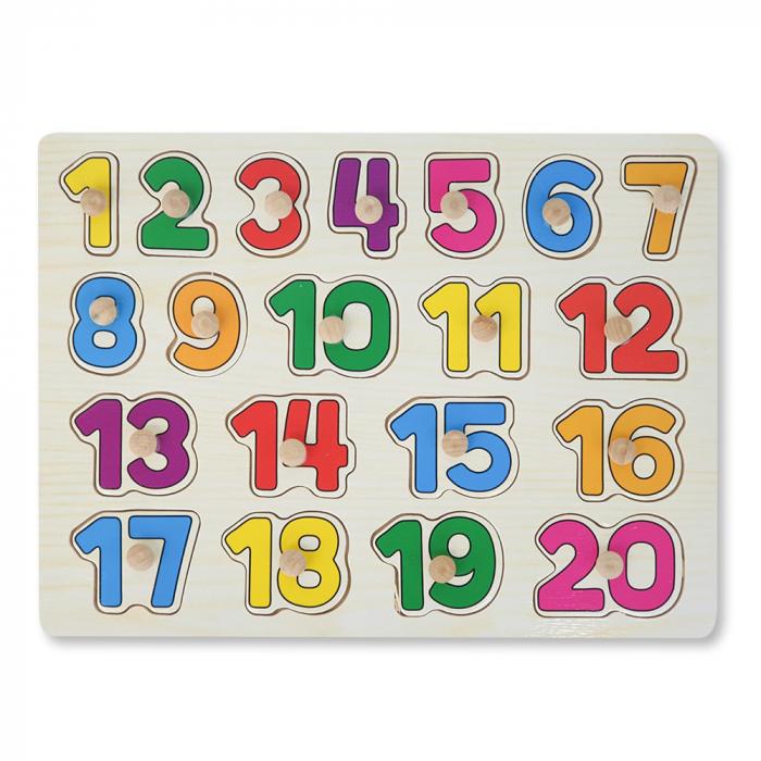 Puzzle din lemn cu cifre 1