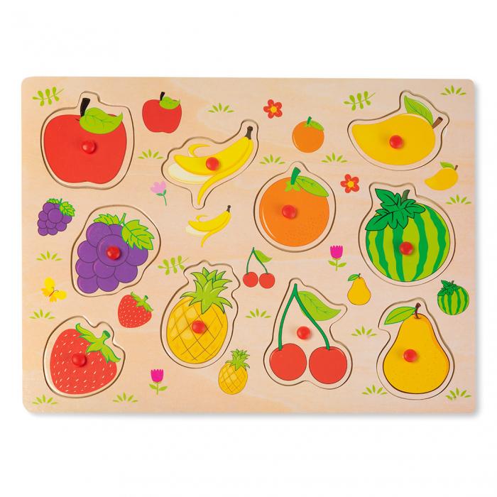 Puzzle din lemn cu fructe 0