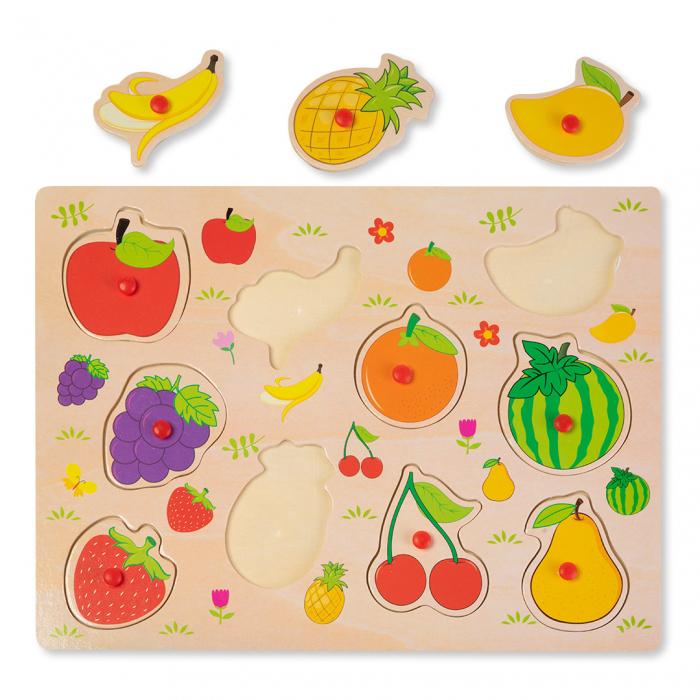 Puzzle din lemn cu fructe 1