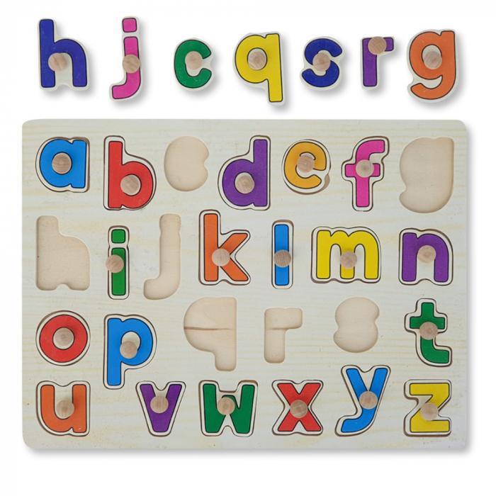 Puzzle din lemn cu litere 0