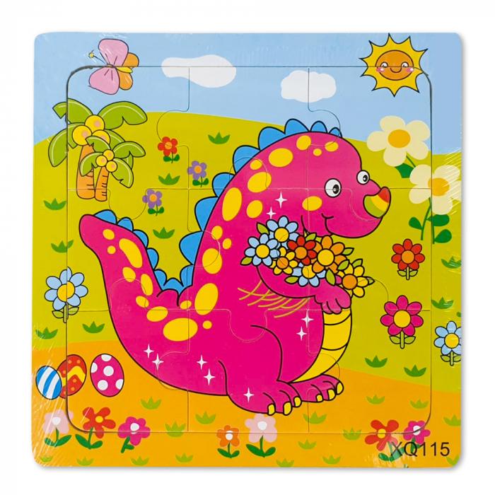 Puzzle din lemn dinozaur 0