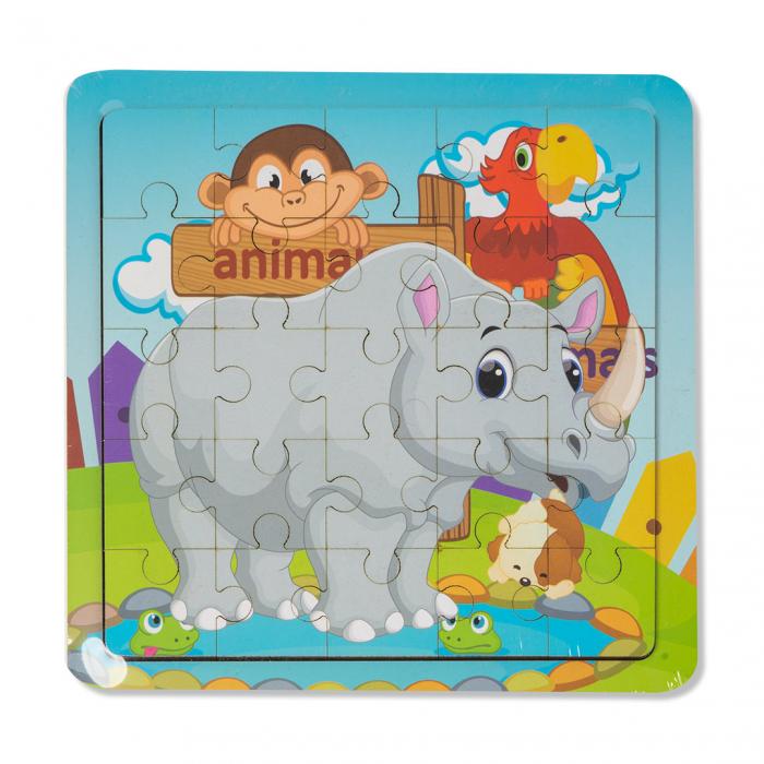 Puzzle din lemn - rinocer 0