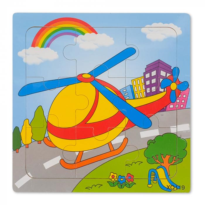 Puzzle din lemn elicopter 0