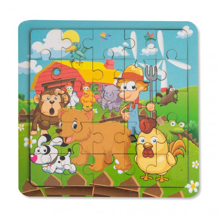 Puzzle din lemn - ferma 0
