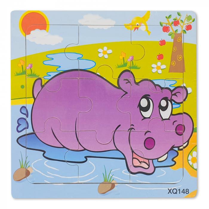 Puzzle din lemn hipopotam 0