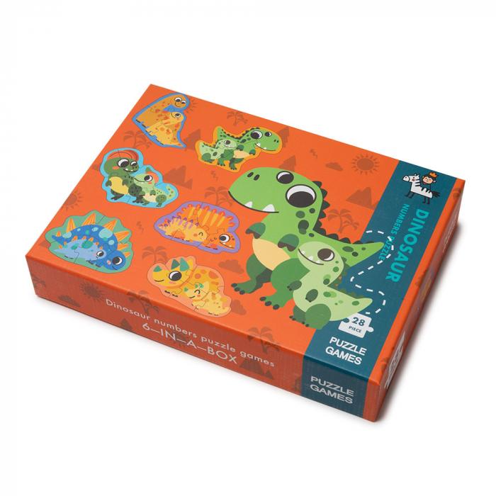 Puzzle din lemn in cutie - dinozauri [0]
