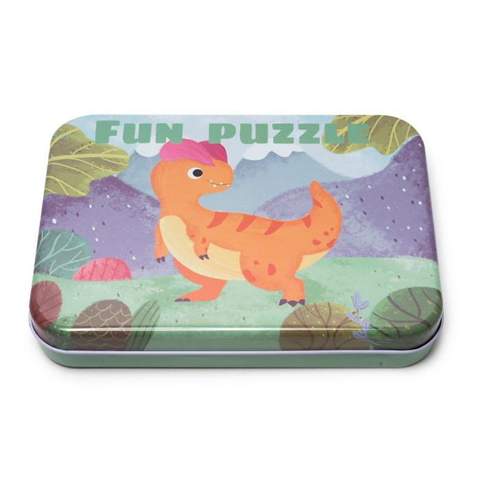 Puzzle din lemn in cutie metalica 2