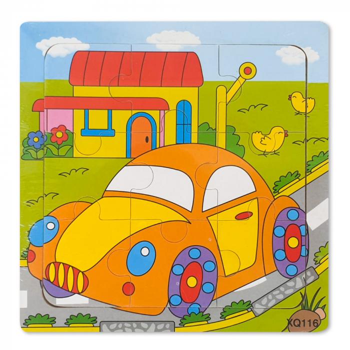 Puzzle din lemn masina 0