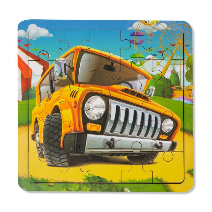 Puzzle din lemn - masina de teren [0]